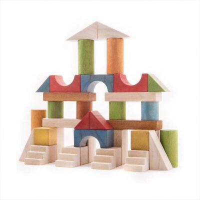 بریکس 40 قطعه جعبه چوبی ساخته شده