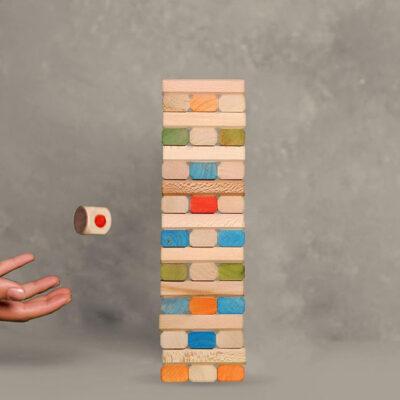 جنگا 54 قطعه رنگی چوبی