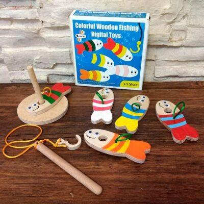 بسته بندی اسباب بازی اسباب بازی ماهیگیری چوبی