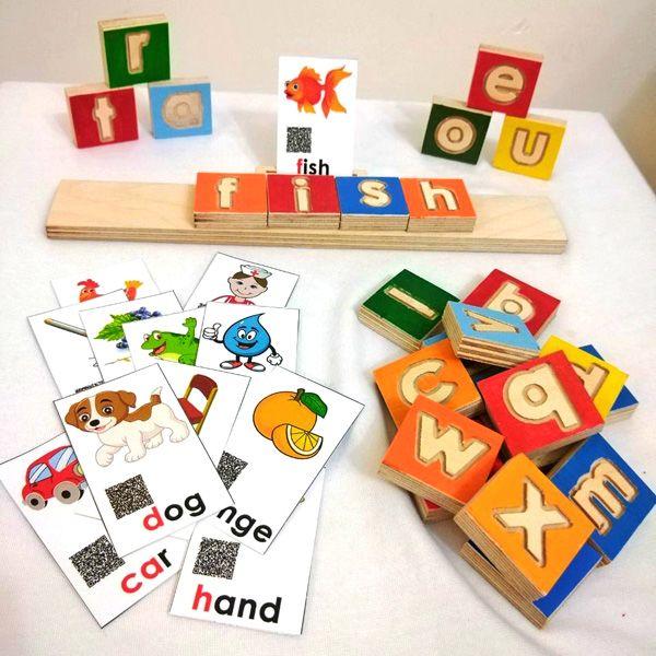 بازی چوبی آموزش زبان انگلیسی